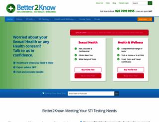 better2know.co.uk screenshot