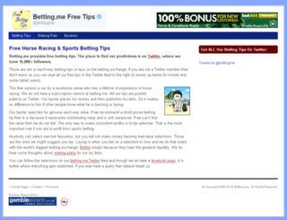 betting.me screenshot