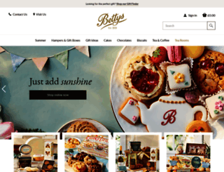 bettys.co.uk screenshot