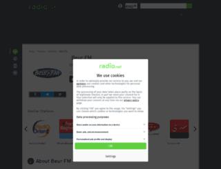 beurfm.rad.io screenshot