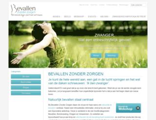 bevallenzonderzorgen.nl screenshot