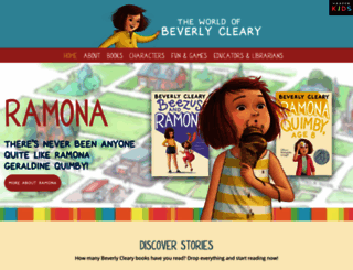 beverlycleary.com screenshot