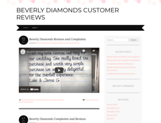 beverlydiamonds4review.wordpress.com screenshot
