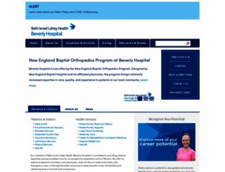 beverlyhospital.org screenshot