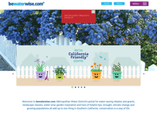 bewaterwise.com screenshot
