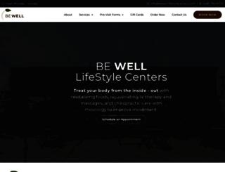 bewelllifestylecenters.com screenshot