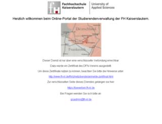 bewerben.fh-kl.de screenshot