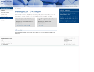 bewerber.pharma-zeitung.de screenshot