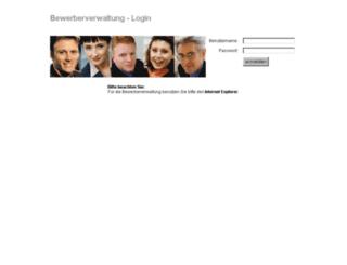 bewerberverwaltung.index.de screenshot