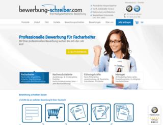 bewerbung-schreiber.com screenshot