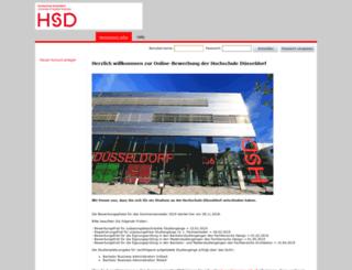 bewerbung.fh-duesseldorf.de screenshot