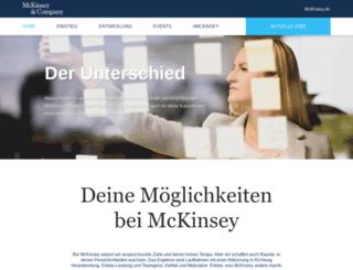 bewerbung.mckinsey.de screenshot