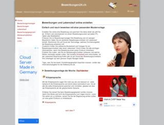 bewerbungen24.ch screenshot