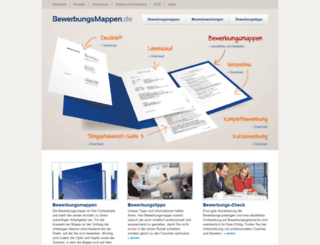 bewerbungsmappen.de screenshot