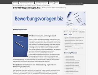 bewerbungsvorlagen.biz screenshot