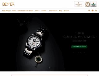 beyer-chronometrie.ch screenshot