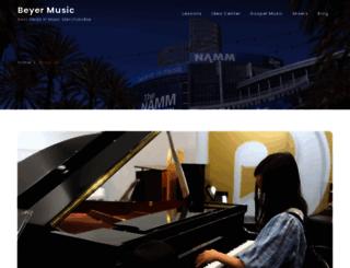 beyermusic.net screenshot
