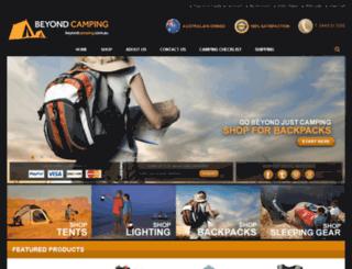 beyondcamping.com.au screenshot