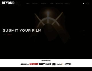 beyondfest.com screenshot