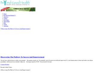beyondgoodhealth.com screenshot