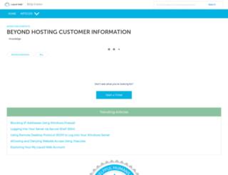 beyondhosting.net screenshot