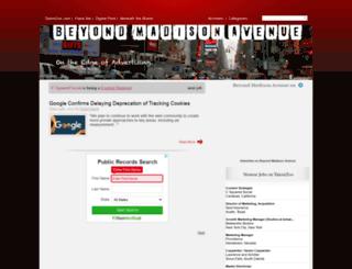beyondmadisonavenue.com screenshot