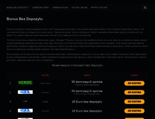 bez-depozytu.com screenshot