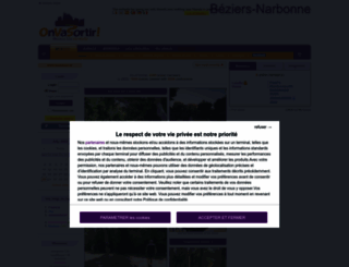 beziers.onvasortir.com screenshot