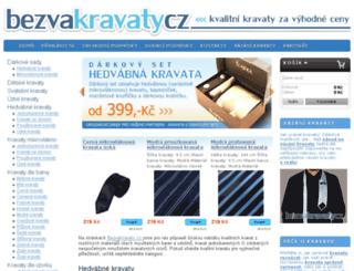 bezvakravaty.cz screenshot
