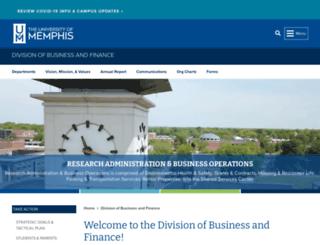 bf.memphis.edu screenshot