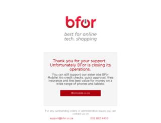 bfor.co.za screenshot