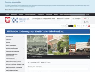 bg.umcs.lublin.pl screenshot