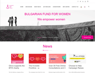 bgfundforwomen.org screenshot