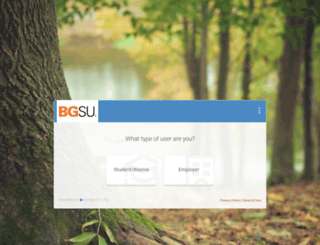 bgsu-csm.symplicity.com screenshot