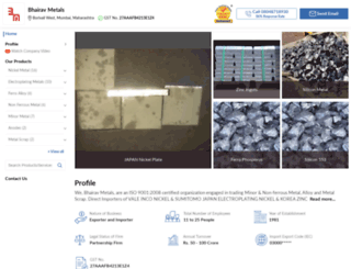bhairavmetals.in screenshot