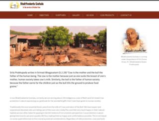bhaktivedantagoshala.org screenshot