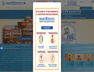 bhaktivedantahospital.com screenshot