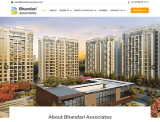 bhandariassociates.co.in screenshot