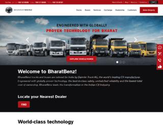 bharatbenz.com screenshot