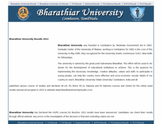 bharathiaruniversityresults.co.in screenshot