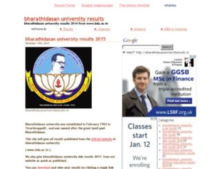 bharathidasanuniversityresults.in screenshot