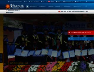 bharathuniv.ac.in screenshot