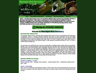 bharatpursanctury.com screenshot