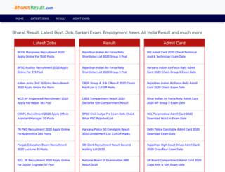bharatresult.com screenshot