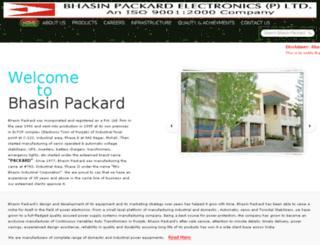 bhasinpackard.com screenshot