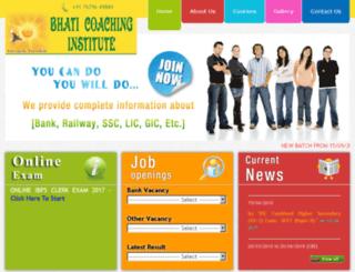 bhaticoaching.com screenshot