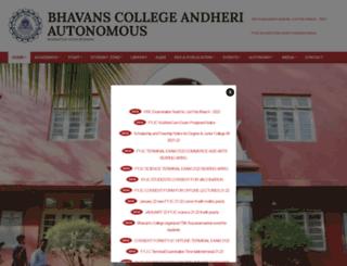 bhavans.ac.in screenshot