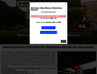 bhavansvidyashram.org screenshot