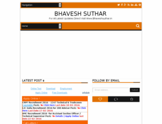 bhaveshsuthar.com screenshot