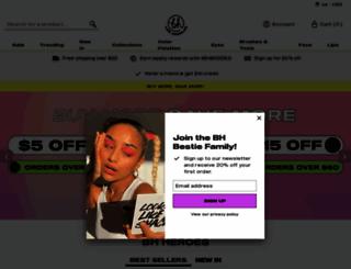 bhcosmetics.com screenshot